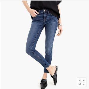 NWT J. Crew 8 inch toothpick jeans, Vista wash,26